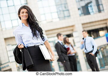 Attractive Young Businesswoman - A young businesswoman...