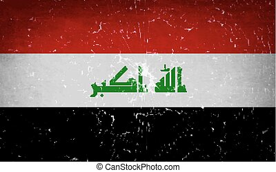 Flags Iraq with broken glass texture. Vector - Flags of Iraq...