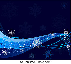 Blue Christmas vector illustration