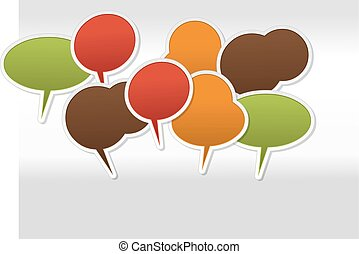 set of Speech balloon icons - Large set of Speech balloon...