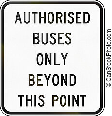 Authorised Buses Only in Australia - Supplementary...