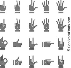 Dark Vector Hand Signs Collection 2 - A collection of hand...