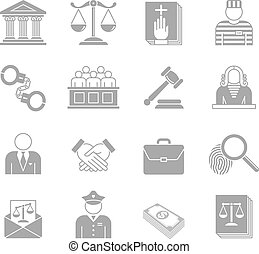 Law and Enforcement Icons set