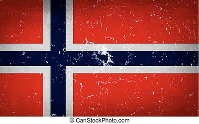 Flags Norway with broken glass texture Vector - Flags of...