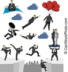 business and office people - Group of business and office...