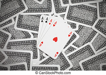 poker cards - a lot of poker cards