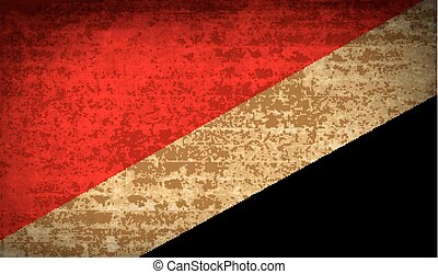 Flags Sealand Principality with dirty paper texture. Vector...