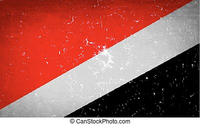 Flags Sealand Principality with broken glass texture. Vector...