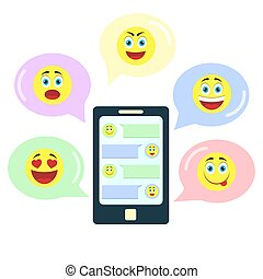 Chat with emoticons - Chat in an application on the...