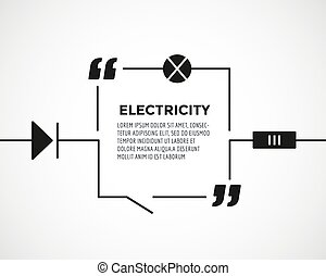 Circuitry quote text bubble Resostor, chain, note or...