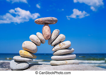 Ascent - Pebble in the center of the bending of the arc