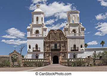 San Xavier Mission Del Bac In Tucson Arizona