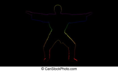 Enlightenment of mind - master - Animation silhouette of...