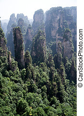 Wulingyuan Scenic Area. - .Mysterious mountains in...