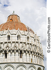 Cathedral of Pisa - The Baptistry of the Cathedral of Pisa...