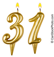 Birthday candles number thirty one isolated - Birthday...