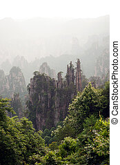 Wulingyuan Scenic Area - Mysterious mountains in Wulingyuan...