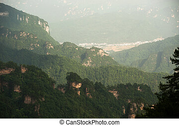 Mysterious mountains Zhangjiajie. - Mysterious mountains in...