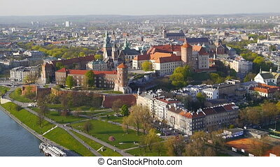 Krakow Panorama from an air balloon