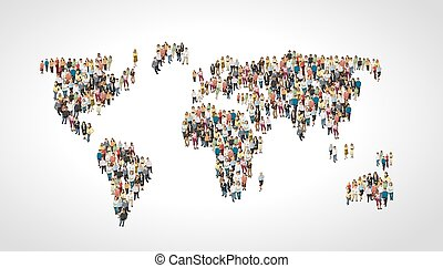 people making a earth planet - Group of people making a...