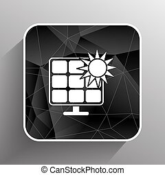 Solar energy panel icon vector sun power.