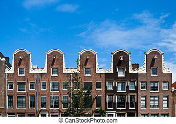Typical Amsterdam houses - Typical dutch residential houses...