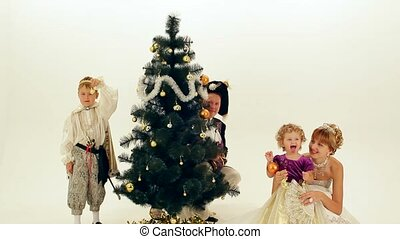 Christmas noble family - Happy Family celebrates Christmas...
