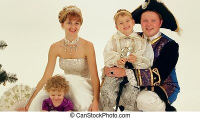 Happy Family Of Aristocrats - A young family of aristocrats...