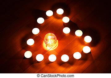 Candles heart