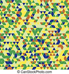 triangles background green yellow