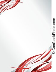 Red abstract template for advertising brochure. Element for...