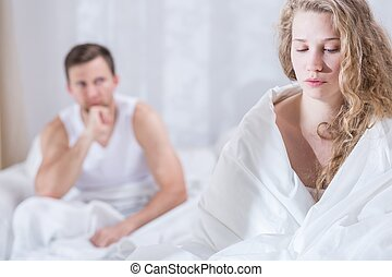 Wife having conflict with husband - Photo of young wife...