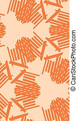 Symmetrical Orange Line Pattern - Symmetrical orange lines...