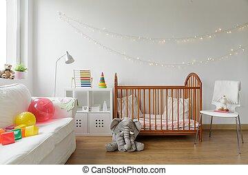 recién nacido,  interior, habitación