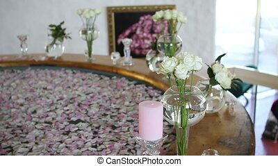 beautiful bath with petals for bride - beautiful bath with...