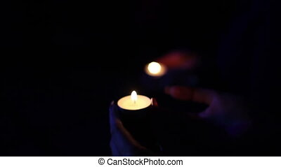 night candles lighted