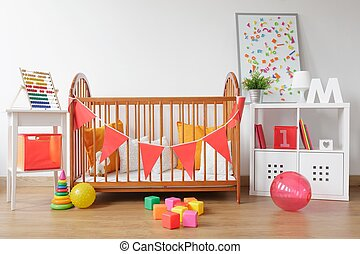 Bright newborn room interior - Picture of bright newborn...