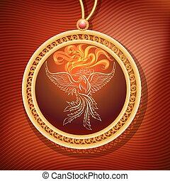 Phoenix Pendant - The Phoenix Pendant. Amulet of longevity...