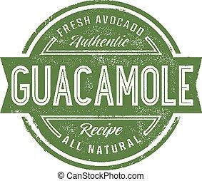 Vintage Guacamole Stamp