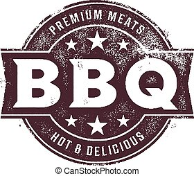 BBQ Food Stamp - Southern style BBQ food stamp.