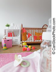 Cosy space for newborn child - Image of light and cosy space...