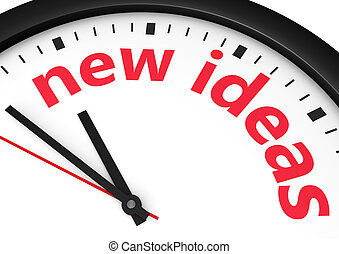 New Ideas Time Concept
