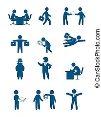 People in business set