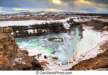 Gulfoss Iceland - Beautiful view on the famous Gullfoss...
