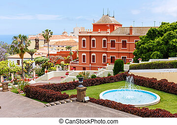 Botanical garden in La Orotava town, Tenerife, Canary...