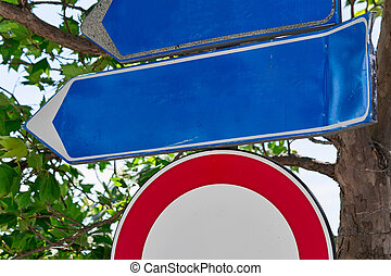 sign road