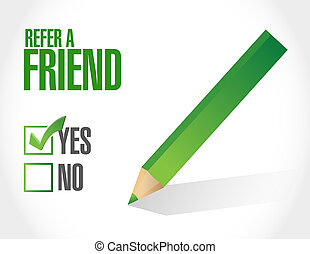 refer a friend sign concept illustration design