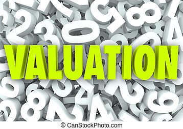 Valuation 3d Word Company Business Value Worth Price...