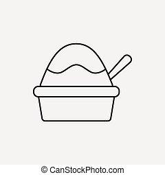 ice cream line icon