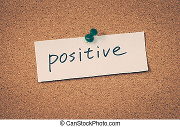 think positive sign noticeboard images and stock photos